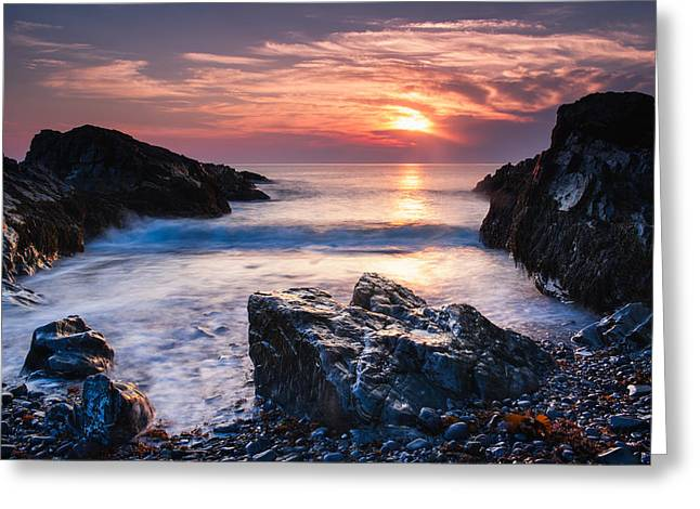 Rocky Cove Greeting Card by Michael Blanchette
