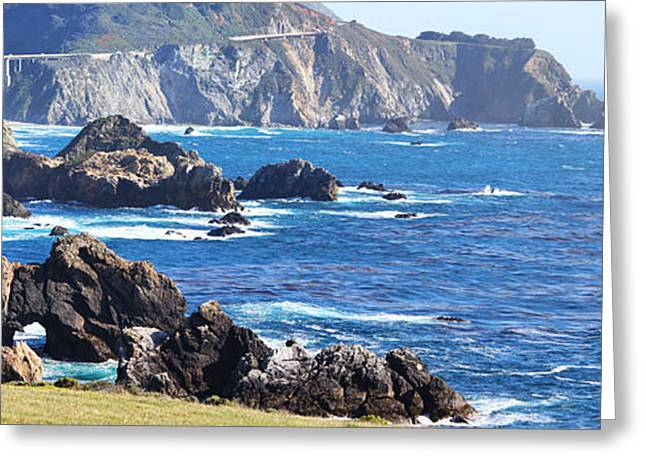Big Sur California Greeting Cards - Rocky Creek Bridge Greeting Card by Jack Schultz