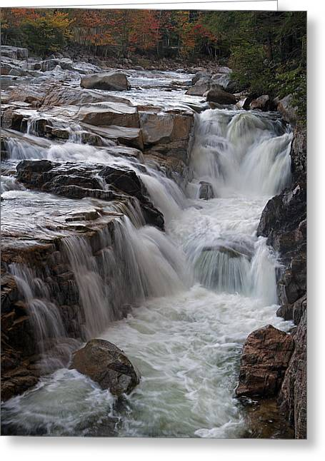 Herbst Greeting Cards - Rocky Gorge Waterfall Greeting Card by Juergen Roth