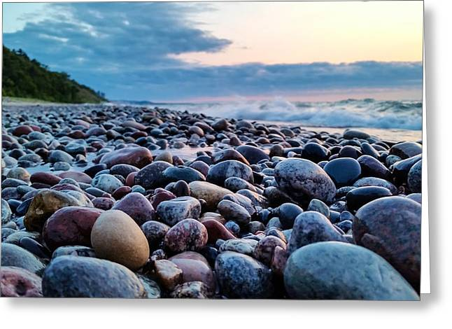 Agate Beach Greeting Cards - Rocky Horizons Greeting Card by Lee and Michael Beek