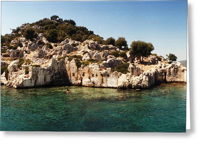 The Edge Greeting Cards - Rocky Island In The Mediterranean Sea Greeting Card by Panoramic Images