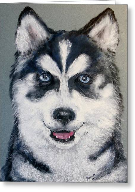 Husky Pastels Greeting Cards - Rocky Greeting Card by Jane Baribeau