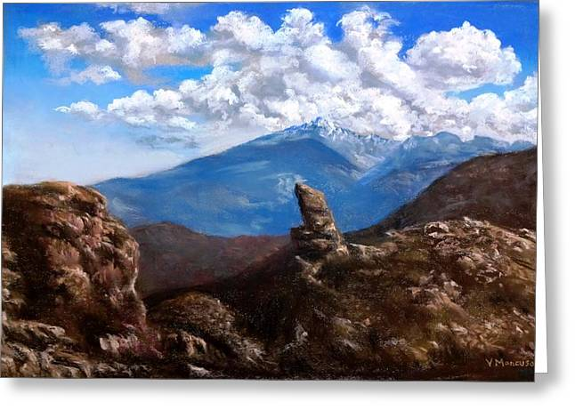 National Pastels Greeting Cards - Rocky Mountain High Greeting Card by Vincent Mancuso