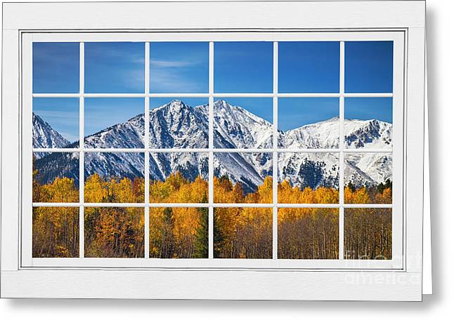 Rocky Mountain Autumn High White Picture Window Greeting Card by James BO  Insogna