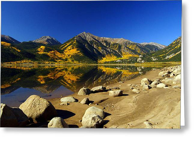Jeremy Greeting Cards - Rocky Mountain Beach Greeting Card by Jeremy Rhoades