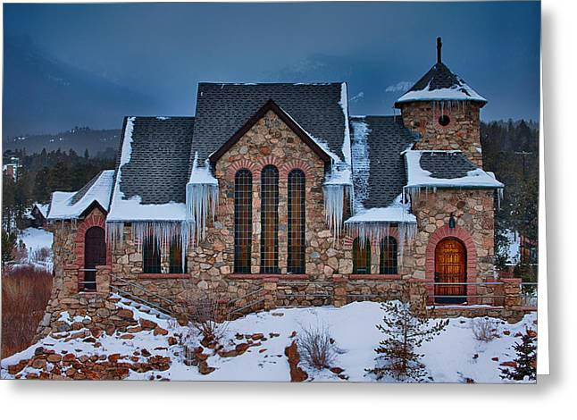 Rocky Mountains Greeting Cards Greeting Cards - Rocky Mountain Chruch Greeting Card by Darren  White