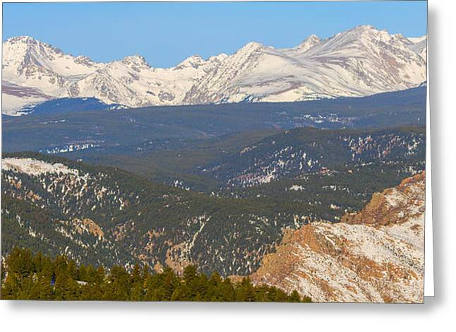 Arapaho Greeting Cards - Rocky Mountain Continental Divide Winter Panorama  Greeting Card by James BO  Insogna