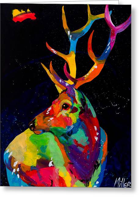 Colorado Artist Greeting Cards - Rocky Mountain Elk Greeting Card by Tracy Miller