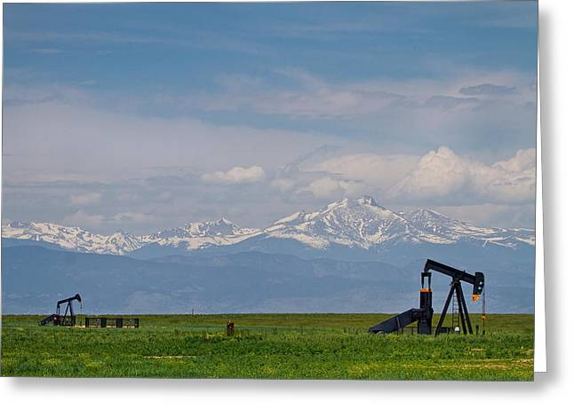 Colorado Front Range Greeting Cards - Rocky Mountain Front Range Oil Greeting Card by James BO  Insogna