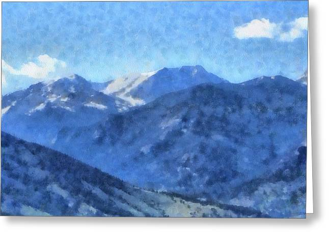 Mummy Range Greeting Cards - Rocky Mountain High Greeting Card by Dan Sproul