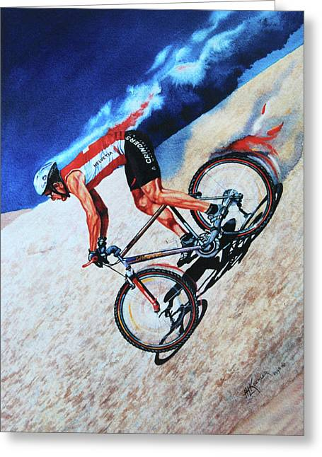 Sport Artist Greeting Cards - Rocky Mountain High Greeting Card by Hanne Lore Koehler