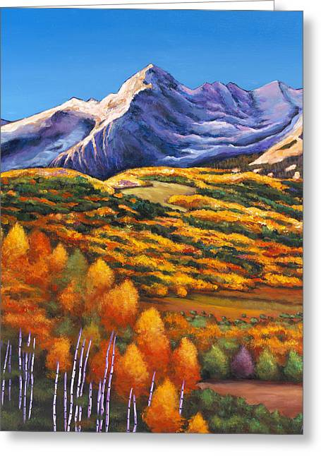 Autumn Landscape Paintings Greeting Cards - Rocky Mountain High Greeting Card by Johnathan Harris