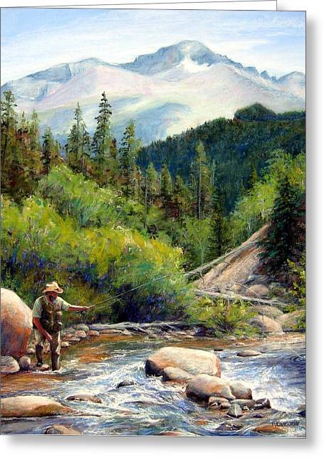 Rocky Mountain High Greeting Card by Mary Giacomini
