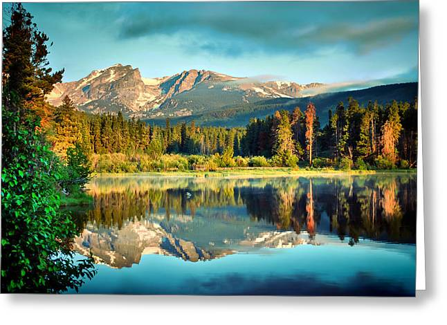 Rocky Mountain Morning Greeting Card by Gregory Ballos