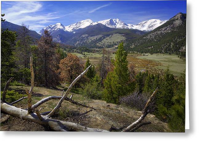 Park Scene Greeting Cards - Rocky Mountain National Park Greeting Card by Joan Carroll