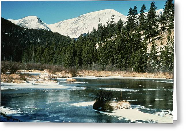 Beautiful Scenery Digital Art Greeting Cards - Rocky Mountain National Park Greeting Card by Nomad Art And  Design