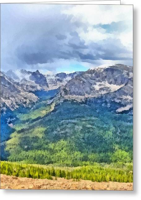 Mummy Range Greeting Cards - Rocky Mountain National Park Painting Greeting Card by Dan Sproul