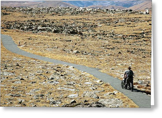 Rocky Mountain National Park Trail Greeting Card by Jim West