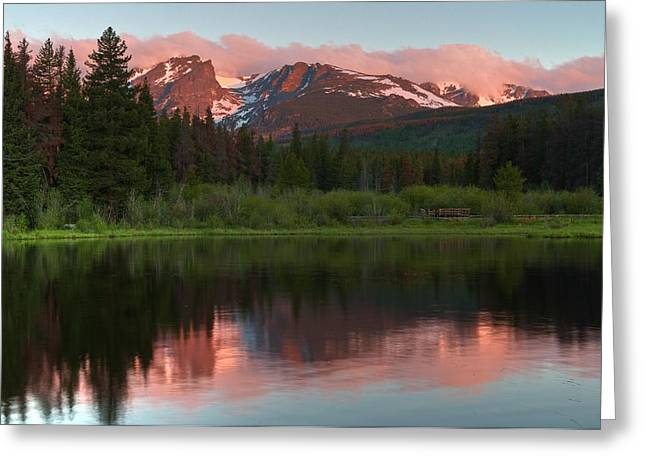 Sprague Greeting Cards - Rocky Mountain Reflection Greeting Card by Mike Berenson