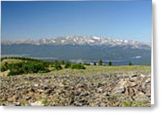 Mt. Massive Greeting Cards - Rocky Mountain Rooftop Panoramic Greeting Card by Jeremy Rhoades