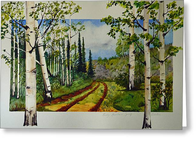 Terri Waters Paintings Greeting Cards - Rocky Mountain Spring Greeting Card by Terri Robertson
