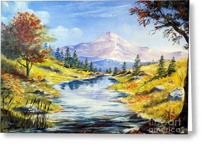 Rocky Mountain Stream Greeting Card by Lee Piper
