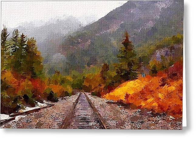 Canadian Greeting Cards - Rocky Mountaineer Greeting Card by Chris Butler