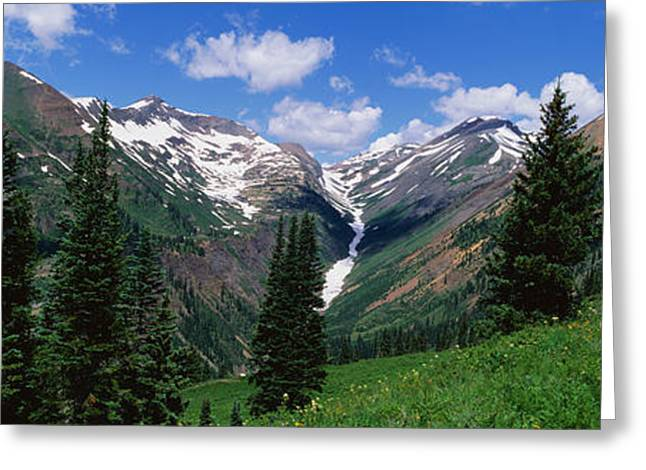 Field. Cloud Greeting Cards - Rocky Mountains Co Greeting Card by Panoramic Images