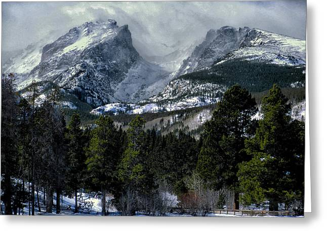 Rocky Mountains Greeting Card by Jim Hill