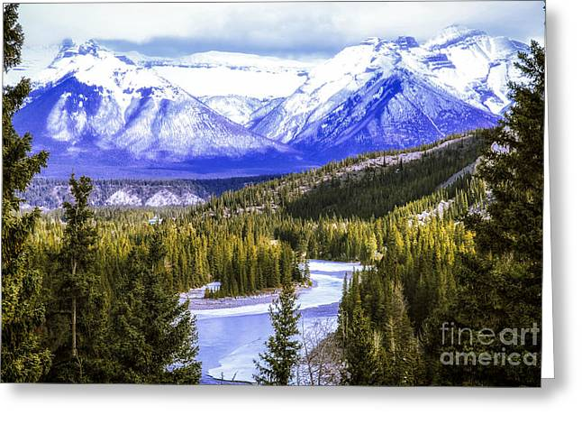 Sky High Greeting Cards - Rocky Mountains landscape Greeting Card by Elena Elisseeva