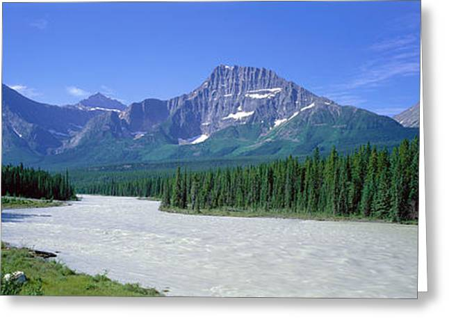 Height Greeting Cards - Rocky Mountains Near Jasper, Alberta Greeting Card by Panoramic Images