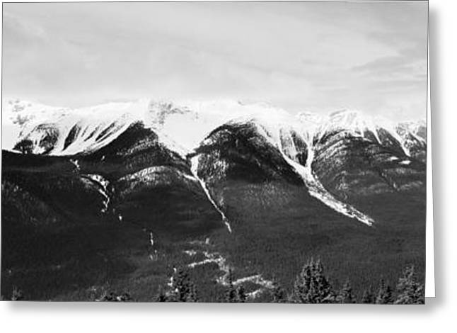 Black Top Greeting Cards - Rocky mountains panorama Greeting Card by Andy Fung