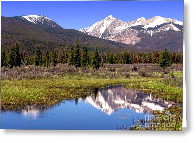 Altitude Greeting Cards - Rocky Mountains Peaks Greeting Card by Olivier Le Queinec