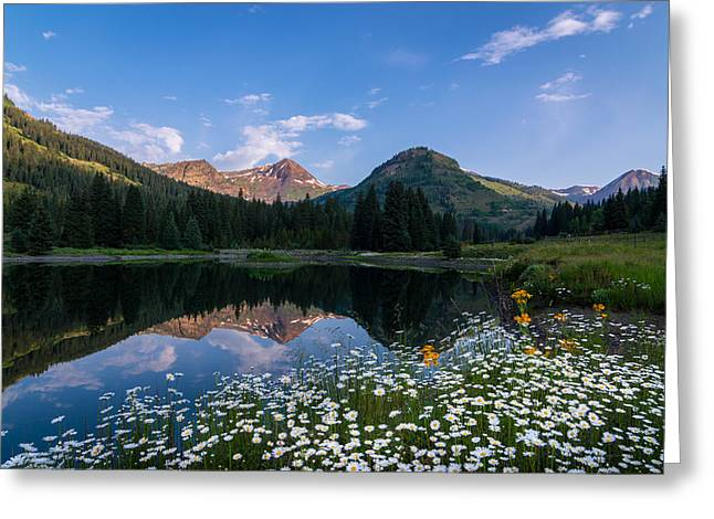 Stream Greeting Cards - Rocky Mountains Reflection Greeting Card by Michael J Bauer