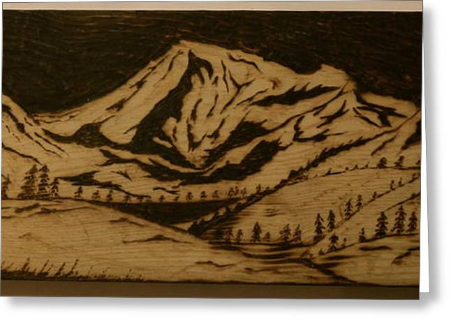 Nature Pyrography Greeting Cards - Rocky Mountains Greeting Card by William Waters