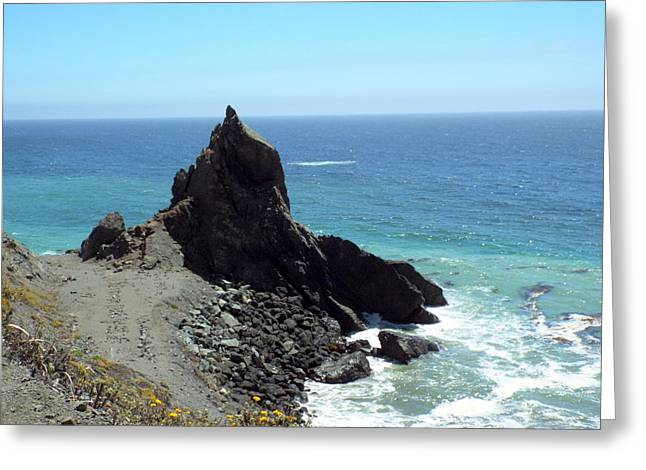 Coast Highway One Greeting Cards - Rocky Point Greeting Card by Kimberly-Ann Talbert