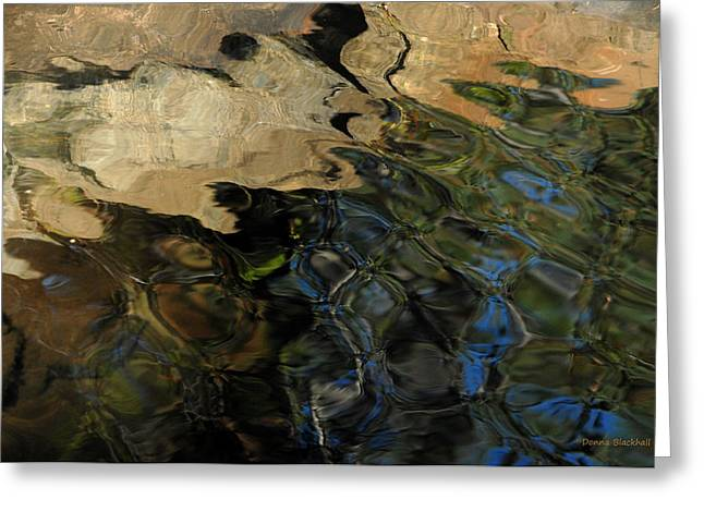 Water Flowing Greeting Cards - Rocky Ripples Greeting Card by Donna Blackhall