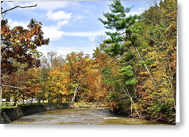 Oak Creek Greeting Cards - Rocky River Greeting Card by Frozen in Time Fine Art Photography