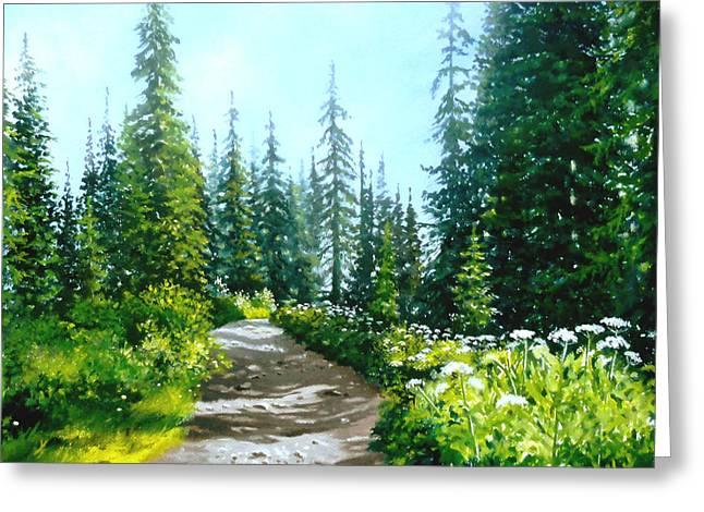 Gravel Road Paintings Greeting Cards - Rocky Road Greeting Card by Linda Hunt