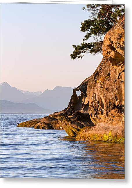 Rocky Sandstone Shore Of Biggs Park Greeting Card by Michael Russell