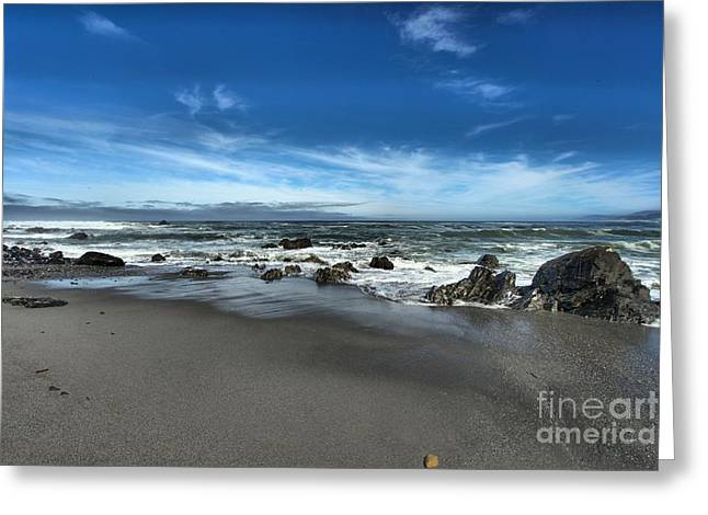Northern California Beaches Greeting Cards - Rocky Shore Greeting Card by Adam Jewell