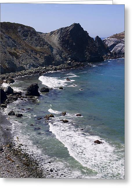 Big Sur Beach Greeting Cards - Rocky Shore Greeting Card by Brenda Kean