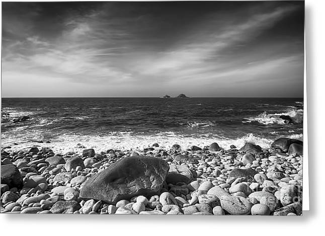Rocky Shore Greeting Card by Chris Thaxter