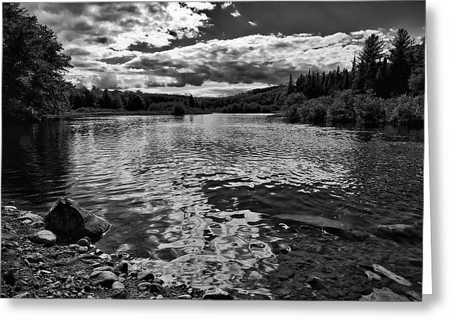 Old And New Greeting Cards - Rocky Shore of the Moose River Greeting Card by David Patterson