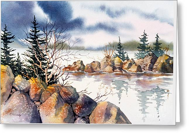 Panoramic Ocean Greeting Cards - Rocky Shore Greeting Card by Teresa Ascone