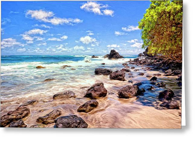 Rocky Shoreline Greeting Card by Dominic Piperata