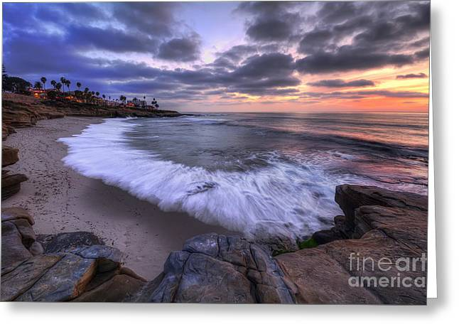 Rocky Shorelines Greeting Cards - Rocky Shoreline Greeting Card by Eddie Yerkish