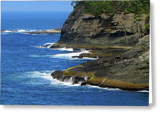 Cape Flattery Greeting Cards - Rocky Shores Greeting Card by Roger Reeves  and Terrie Heslop
