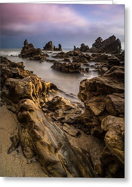 Stunning Greeting Cards - Rocky Southern California Beach 5 Greeting Card by Larry Marshall