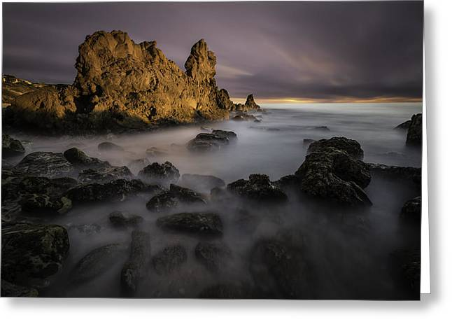 Pool Photography Greeting Cards - Rocky Southern California Beach 6 Greeting Card by Larry Marshall